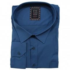 Camasa maneca lunga albastra uni 2XL-10XL