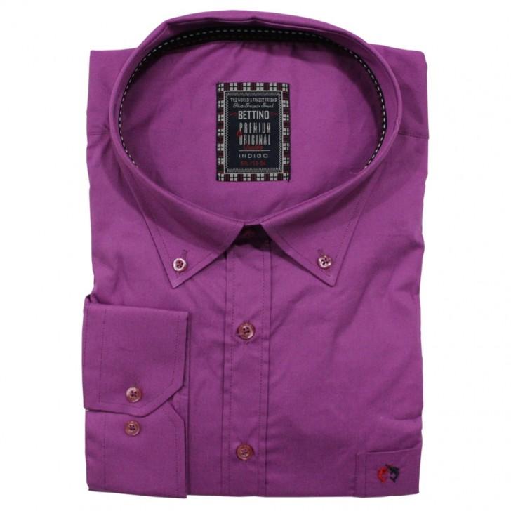 Camasa maneca lunga violet uni 2XL-10XL
