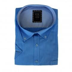 Camasa maneca scurta albastra uni