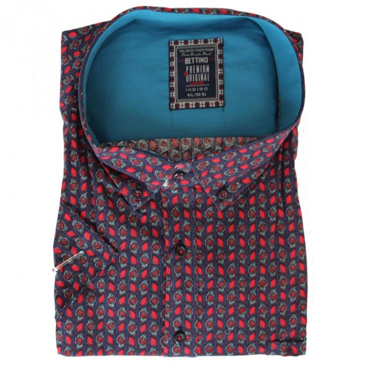 Camasa cu imprimeu rosu-albastru 2XL-10XL
