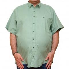 Camasa maneca scurta verde cu imprimeu - XXLBigSize