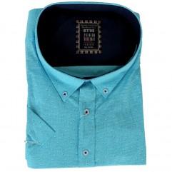Camasa turcoaz cu picatele albastre