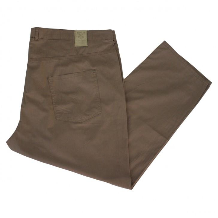 Pantalon subtire bej inchis - XXLBigSize