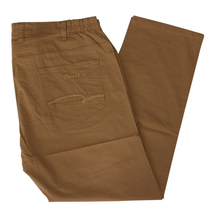 Pantalon subtire maro 10-29 xxlbigsize