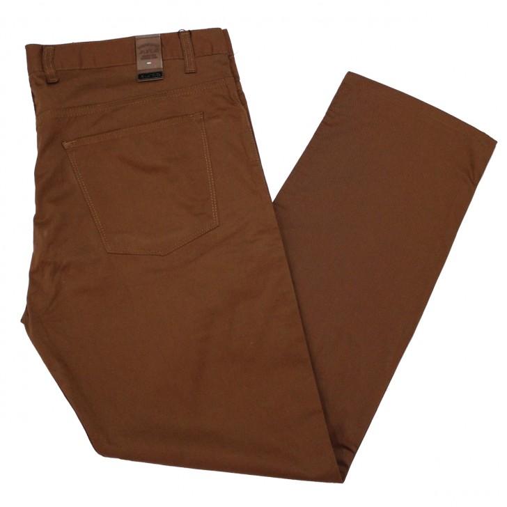 Pantalon subtire maro inchis