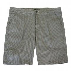 Pantalon scurt cu picouri alb-negru
