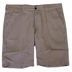 Pantalon scurt cu picouri alb-rosu