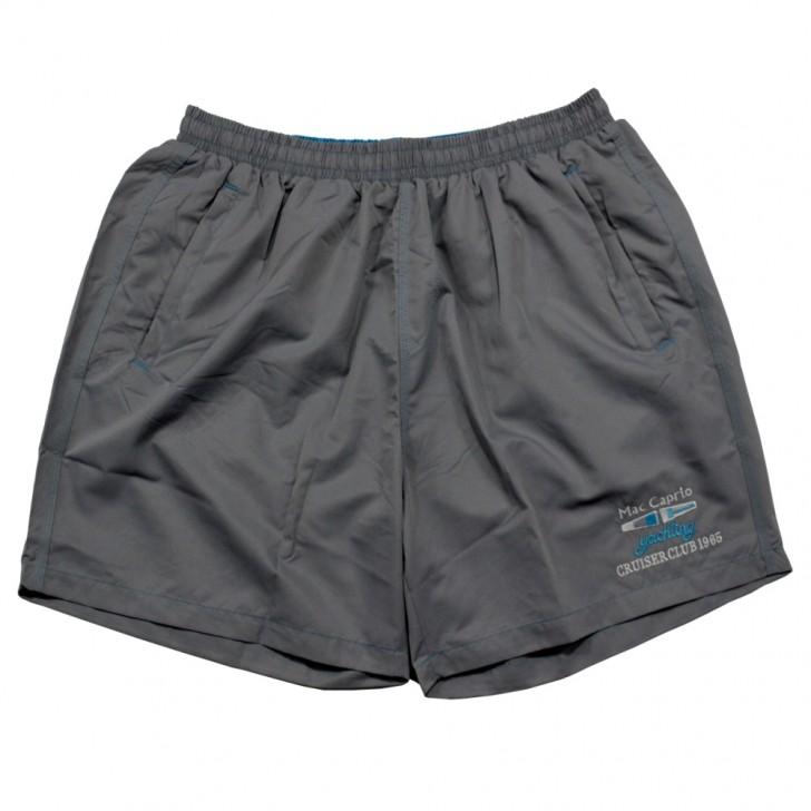 Pantalon scurt gri din fas
