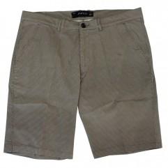 Pantalon scurt maro cu imprimeu