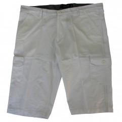 Pantalon trei sferturi alb