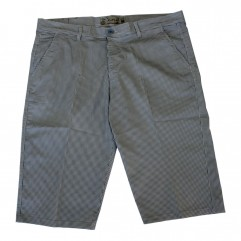 Pantalon trei sferturi cu picouri alb-albastru
