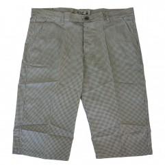 Pantalon trei sferturi cu picouri alb-negru - XXLBigSize