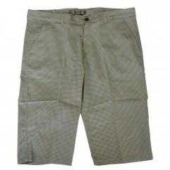 Pantalon trei sferturi cu picouri alb-verde