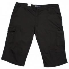 Pantalon trei sferturi negru - XXLBigSize