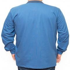 Bluza subtire albastra cu guler 2XL-6XL