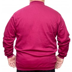 Bluza subtire fuxia cu guler 3XL-8XL