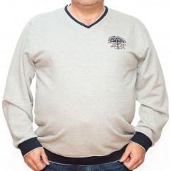 Bluza groasa gri cu imprimeu si cu anchior