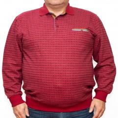 Bluza groasa visinie cu imprimeu si cu guler 2XL-6XL