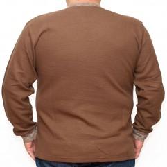 Bluza groasa maro cu imprimeu si cu anchior 2XL-6XL