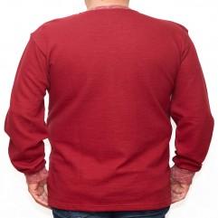 Bluza groasa rosie cu imprimeu si cu anchior 2XL-6XL
