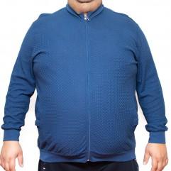 Bluza subtire albastra cu fermoar 2XL-9XL