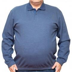 Bluza subtire albastra cu guler