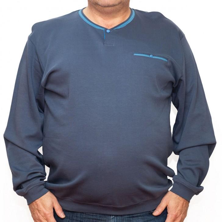 Bluza subtire albastra la baza gatului 2XL-9XL