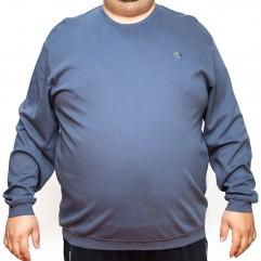 Bluza subtire bleumarin la baza gatului - XXLBigSize