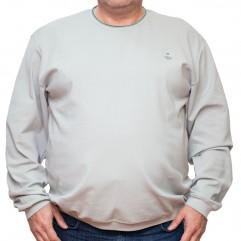 Bluza subtire gri deschis la baza gatului 3XL-6XL