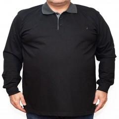 Bluza subtire neagra cu guler 2XL-6XL