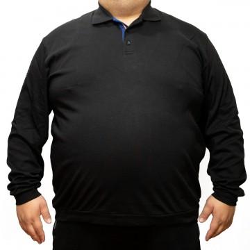 Bluza subtire neagra cu guler