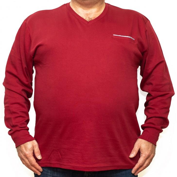 Bluza subtire rosie cu anchior 40-63 xxlbigsize