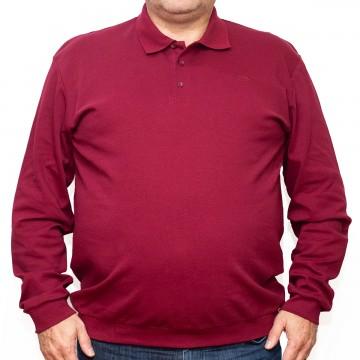 Bluza subtire rosie cu guler