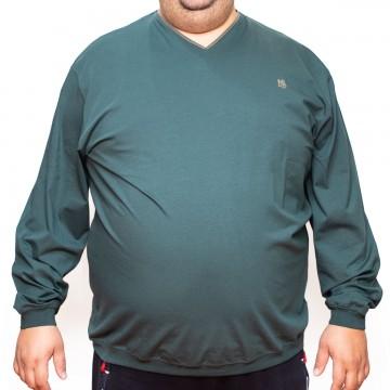 Bluza subtire verde cu anchior