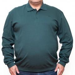 Bluza subtire verde cu guler