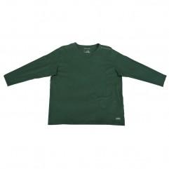 Bluza subtire verde cu imprimeu la baza gatului 2XL-9XL