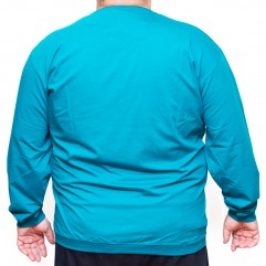 Bluza subtire turcoaz cu anchior 3XL-9XL