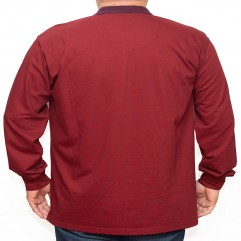 Bluza subtire visinie cu guler 2XL-6XL