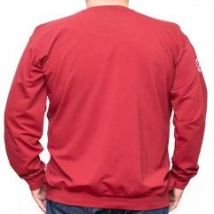 Bluza subtire visinie cu imprimeu la baza gatului 2XL-6XL