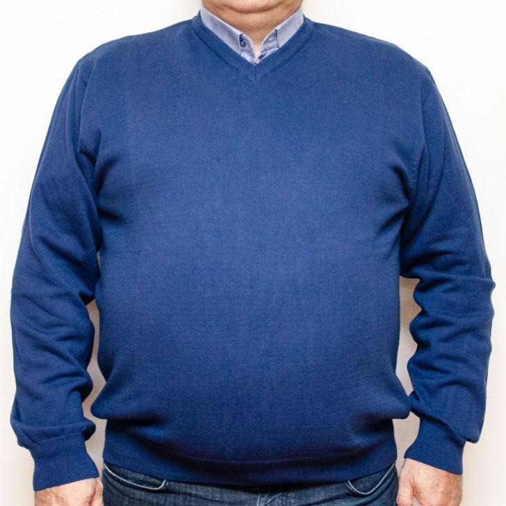 Pulover albastru cu anchior 3XL-6XL