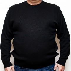 Pulover negru cu imprimeu la baza gatului
