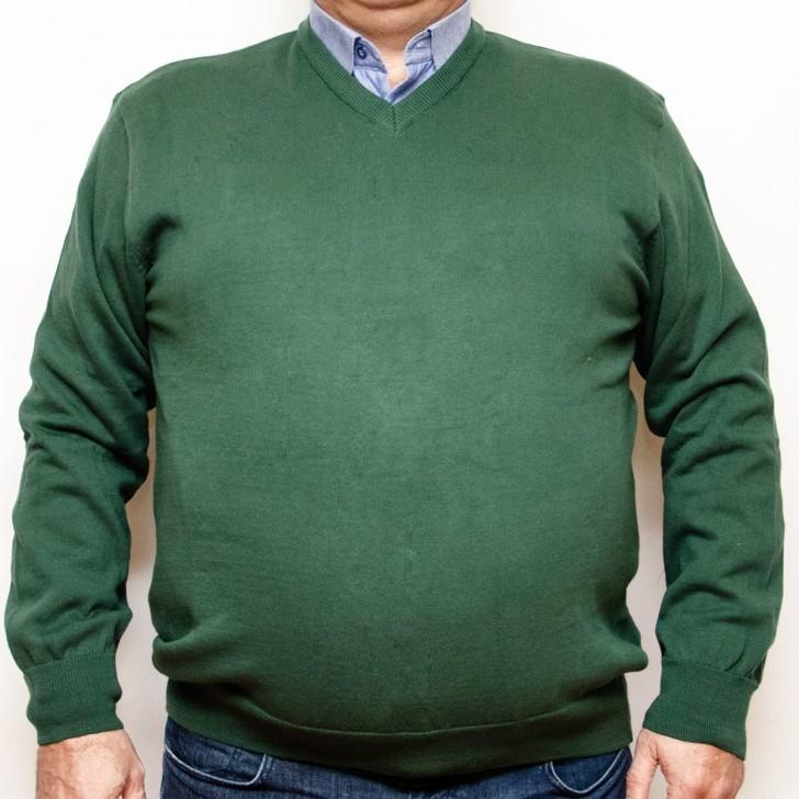 Pulover verde cu anchior 3XL-6XL