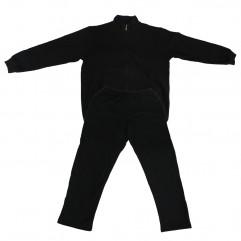Trening negru din bumbac vatuit - XXLBigSize