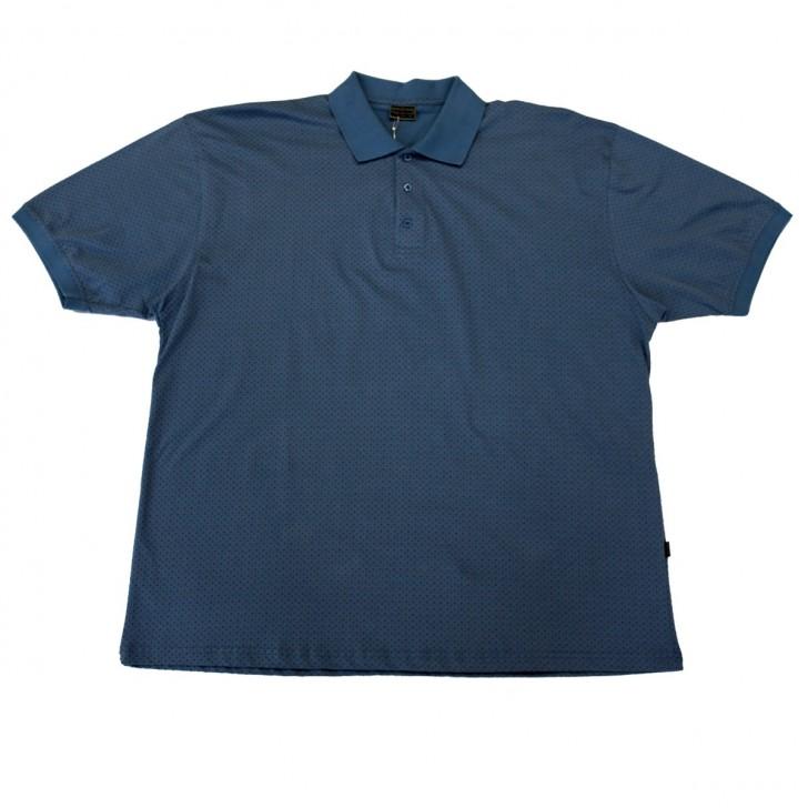 Tricou bleu cu guler 2XL-6XL