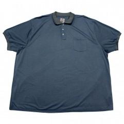 Tricou bleu cu guler