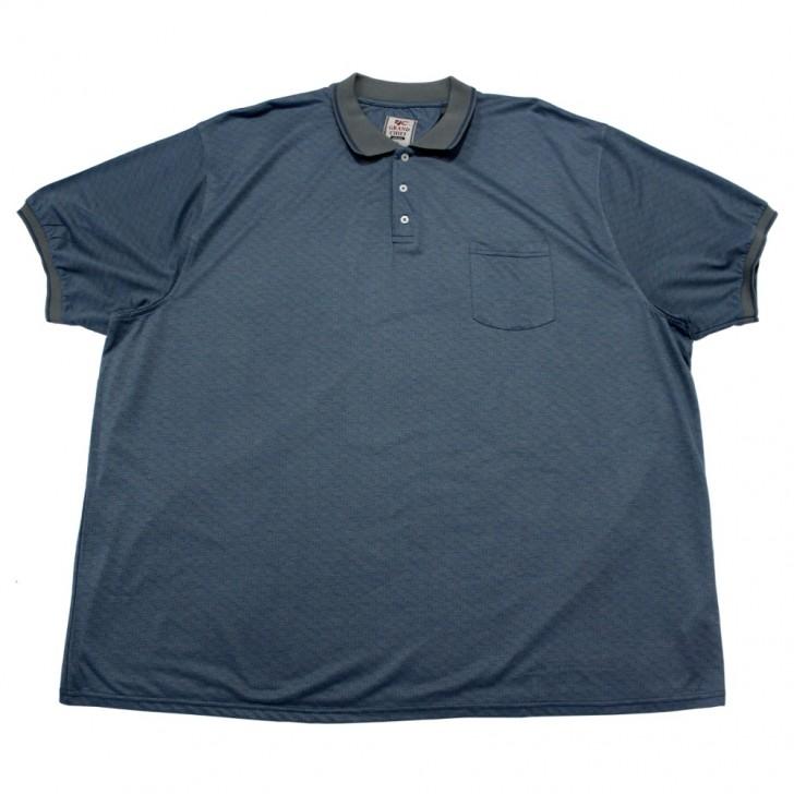 Tricou bleu cu guler 2XL-9XL