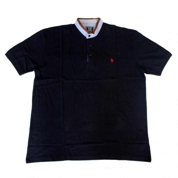 Tricou bleumarin cu guler tunica 2XL-6XL
