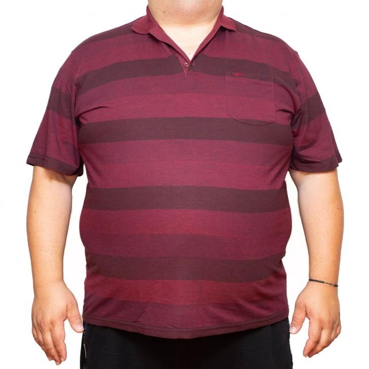 Tricou bordo in dungi cu guler 70-111 xxlbigsize