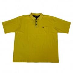 Tricou galben cu guler
