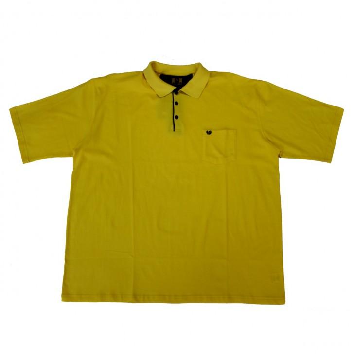 Tricou galben cu guler 2XL-6XL